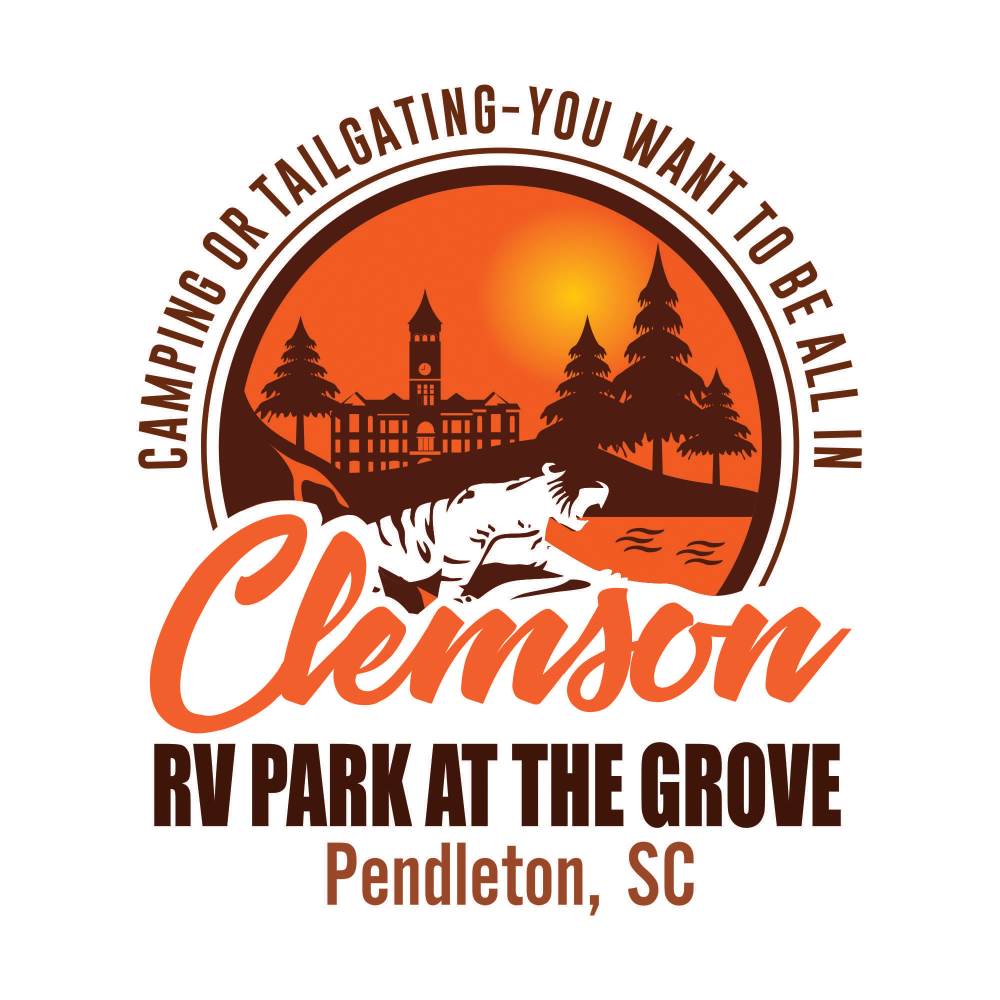 Clemson RV Park At The Grove Logo FC