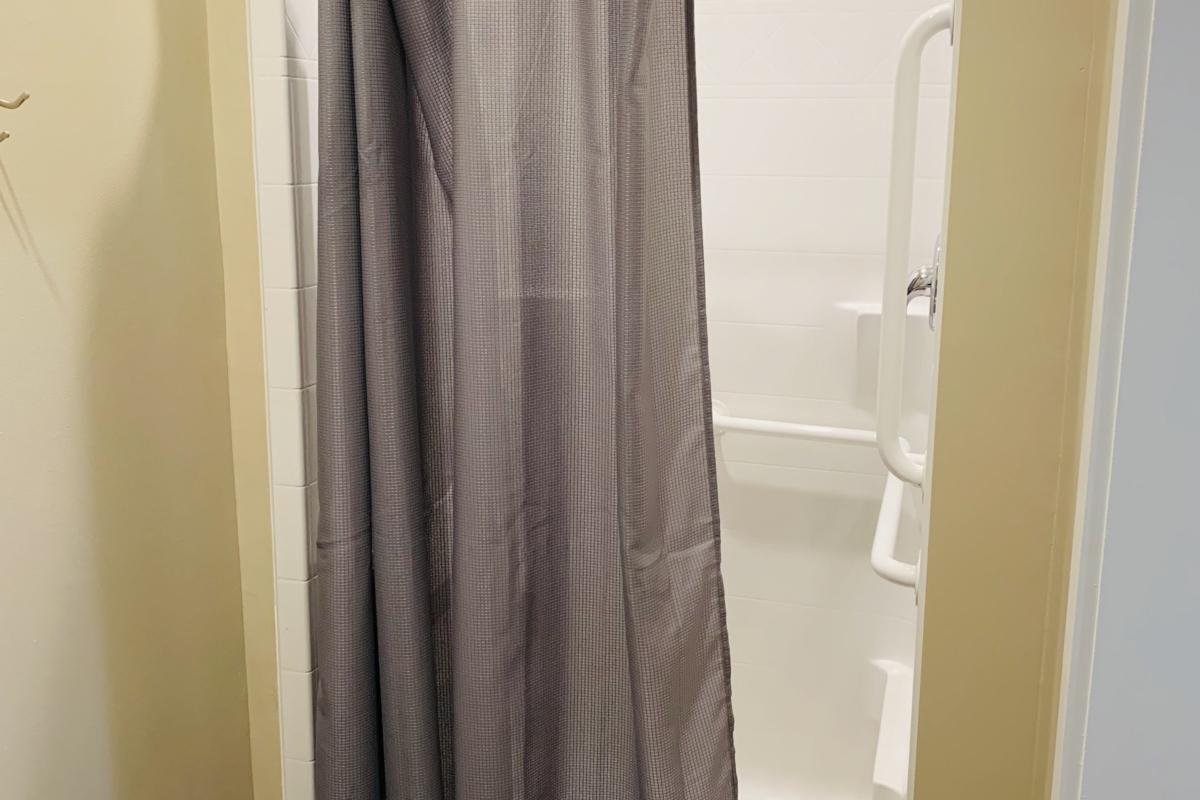family restroom shower